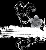 White grunge banner with flowers royalty free stock photos