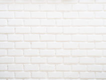 White grunge brick wall. For background Royalty Free Stock Images