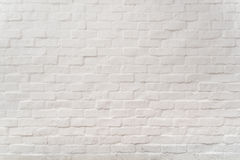 White grunge brick wall background, abstract, texture Royalty Free Stock Image