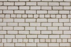 White grunge brick wall background Royalty Free Stock Images