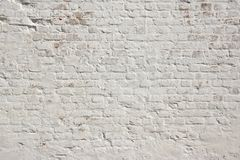 White grunge brick wall background Stock Photos
