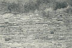 White grunge brick wall texture background. Old brick wall texture background, vintage style Stock Photos