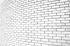 White grunge curve brick wall background Stock Images