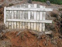 White Grunge Fence. Royalty Free Stock Photo