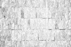 White grunge wood shingle wall pattern Stock Photos