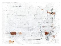 White grungy bricks background. Photo of the part of old wall / Can be used for different designers purposes stock image