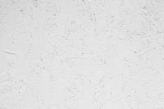 White grungy painted wooden plywood wall Stock Image