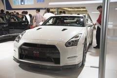 White gt-r gtr car Stock Image