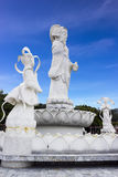 White Guanyin statue at Hat Yai public park Royalty Free Stock Image