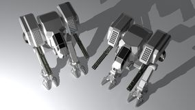 White guardian robots Royalty Free Stock Photography