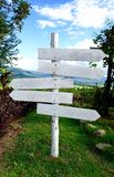 White guidepost Stock Photography