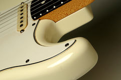White guitar Stock Photography