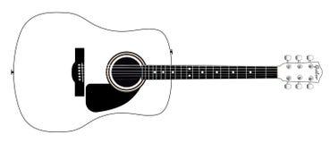 White Guitar Royalty Free Stock Photo
