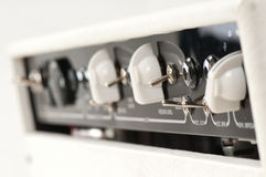 White guitar combo amplifier Royalty Free Stock Photos