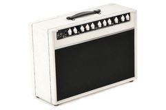 White guitar combo amplifier Stock Photo