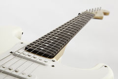 White Guitar Isolated On White Background Stock Images