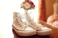 White gum shoes Stock Image