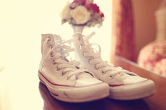 White gum shoes Royalty Free Stock Photography
