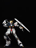 White Gundam taking sword Stock Photography