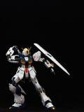 White Gundam taking sword Stock Photography