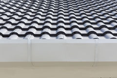 White gutter on the roof top Royalty Free Stock Photos
