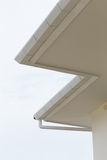 White gutter on the roof top Royalty Free Stock Photo