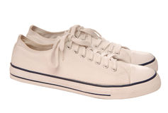 White gym-shoes Royalty Free Stock Image