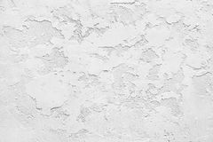 White gypsum rusty wall Royalty Free Stock Photography