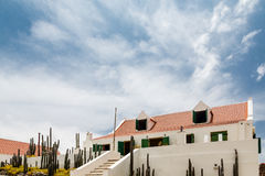 White Hacienda with Red Tile Roof Stock Photography