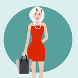 White Hair fashion girl Royalty Free Stock Photo