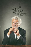 White hairs business leader portrait Stock Photography