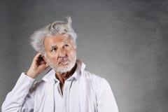 White hairs scientist thinking Stock Photos