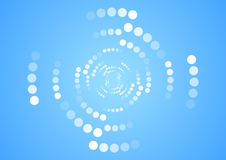 White halftone circles on blue background Royalty Free Stock Photo