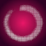 White halftone pattern on pink background Royalty Free Stock Photo