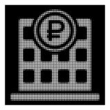 White Halftone Rouble Bank Office Icon royalty free illustration