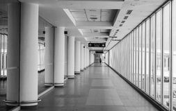 White hall at airport - modern architecture Stock Image