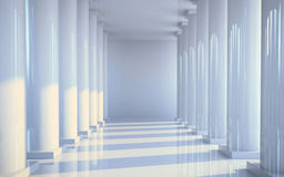 White hall with columns Stock Photos
