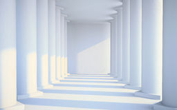White hall with columns Royalty Free Stock Photo