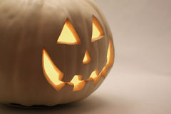 White Halloween Pumpkin Royalty Free Stock Photography