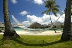 White Hammock on the Beach Royalty Free Stock Image