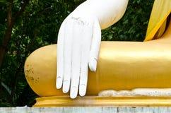 White hand of buddha, Thailand Stock Images