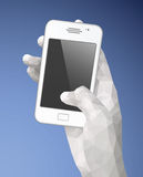 White Hand Holding Mobile Phone Royalty Free Stock Photography