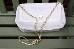 White handbag Royalty Free Stock Photography