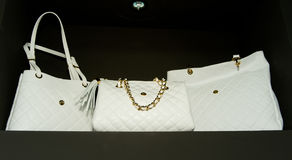 White handbags Royalty Free Stock Image