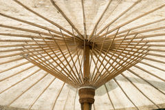 White Handcraft umbrella Royalty Free Stock Photo