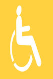 White handicap sign Royalty Free Stock Photo
