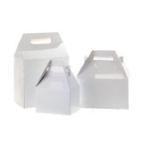 White handle boxes Stock Images