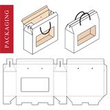 White Handle Package Template isolated royalty free illustration