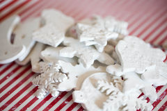 White handmade christmas decoration. Beauty white handmade christmas decoration Stock Photography