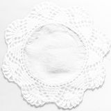 White handmade lace tablecloth texture on white background Stock Images